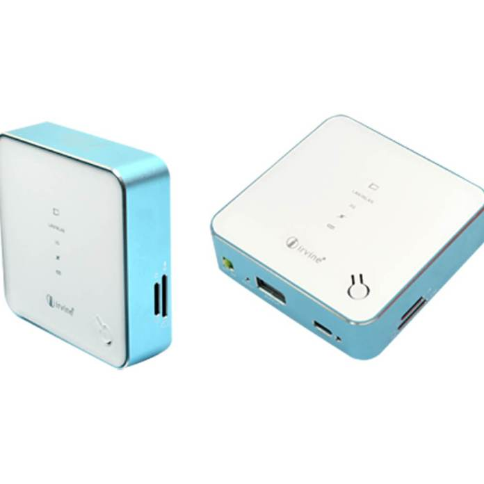Irvine 3G Wireless MiFi Router With 5200mAh Battery Power Bank