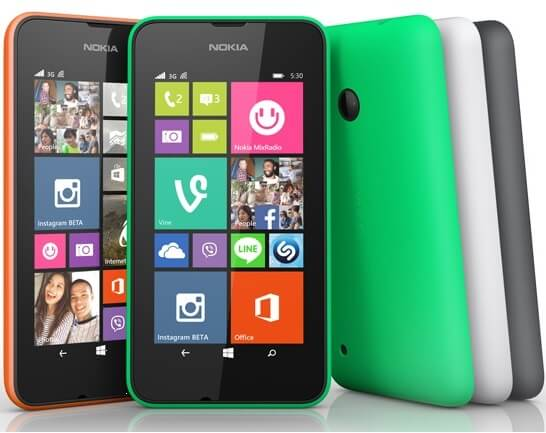 Nokia Lumia 530 and Lumia 530 Dual SIM Budget Windows Phone 8.1