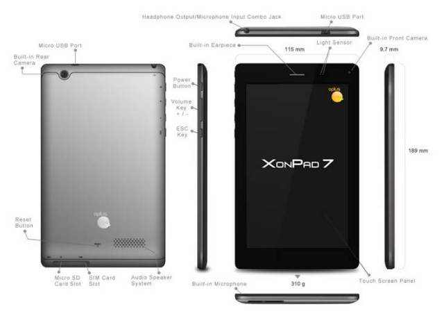 Oplus XonPad 7 Tablet in India
