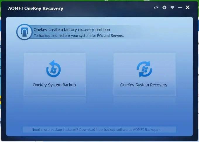AMOEI OneKey Recovery