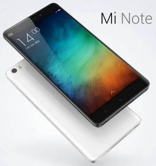 Xiaomi Mi Note in China