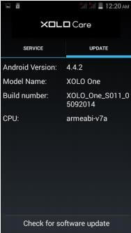 Xolo One - Check for Update