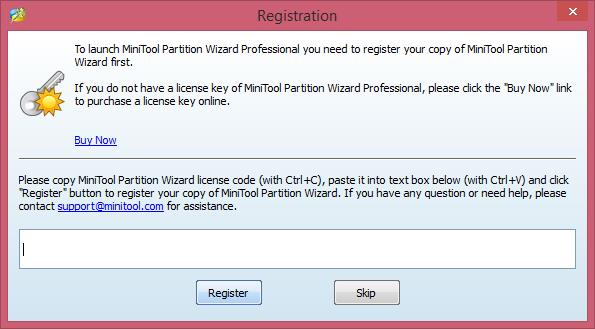 MiniTool Partition Wizard Pro Edition Registration