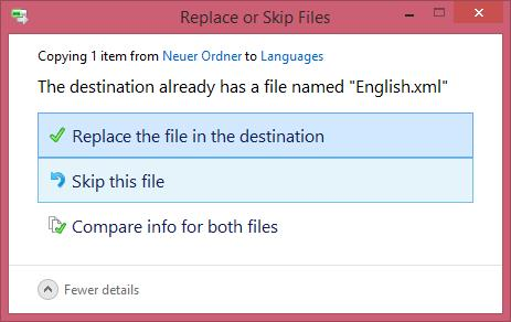 Replace of Skip File