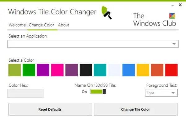 windows tile color changer