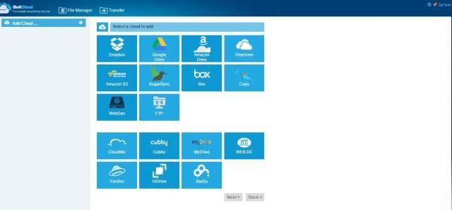 Adding of cloud services - MultCloud