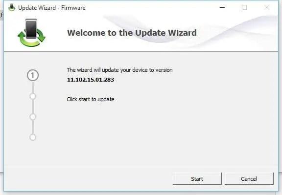 MTS EC306 firmware update wizard