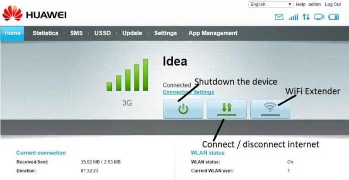 Huawei WebUI Explained