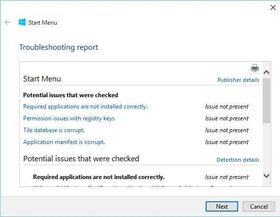 Download Start Menu Repair / Troubleshooter Tool for Windows 10 |  RouterUnlock.com