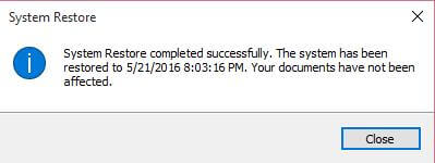 system-restore-created-successfully
