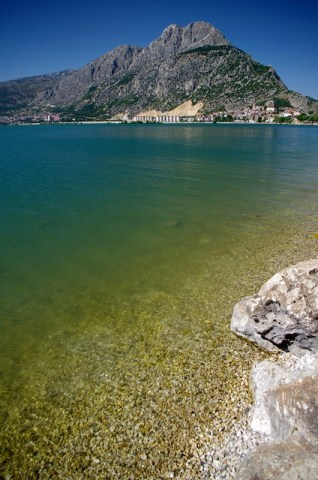 Lake Egirdir - one side of the lake totaly flat