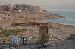 Dead Sea Coast and view of 5Stars hotels