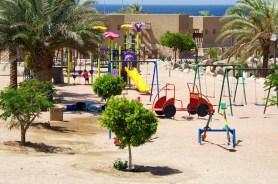 playgraond nearby a beach resort