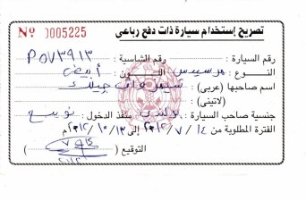 This is Egyptian Driving Licence