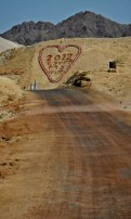 When we were driving around the Park we saw this heart, close to army base