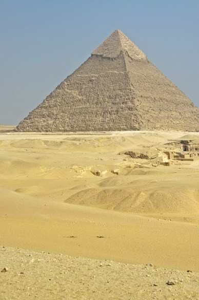 the Pyramid of Chephreview on the Pyramid of Khafre/