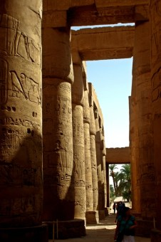 A view of the great hypostyle hall in the Precinct of Amun Re