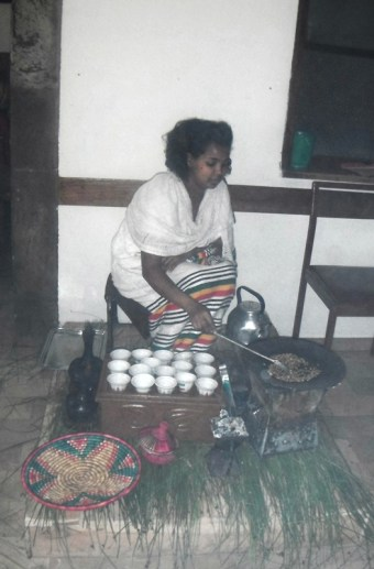 Coffee Ceremony at Wutma restaurant