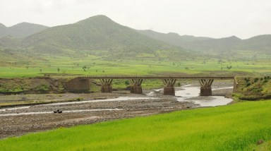 Bridge to Lalibela - you don't have drive thru river beds - unless you want to