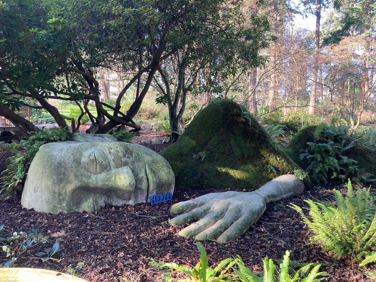 The Moss Lady statue Victoria BC