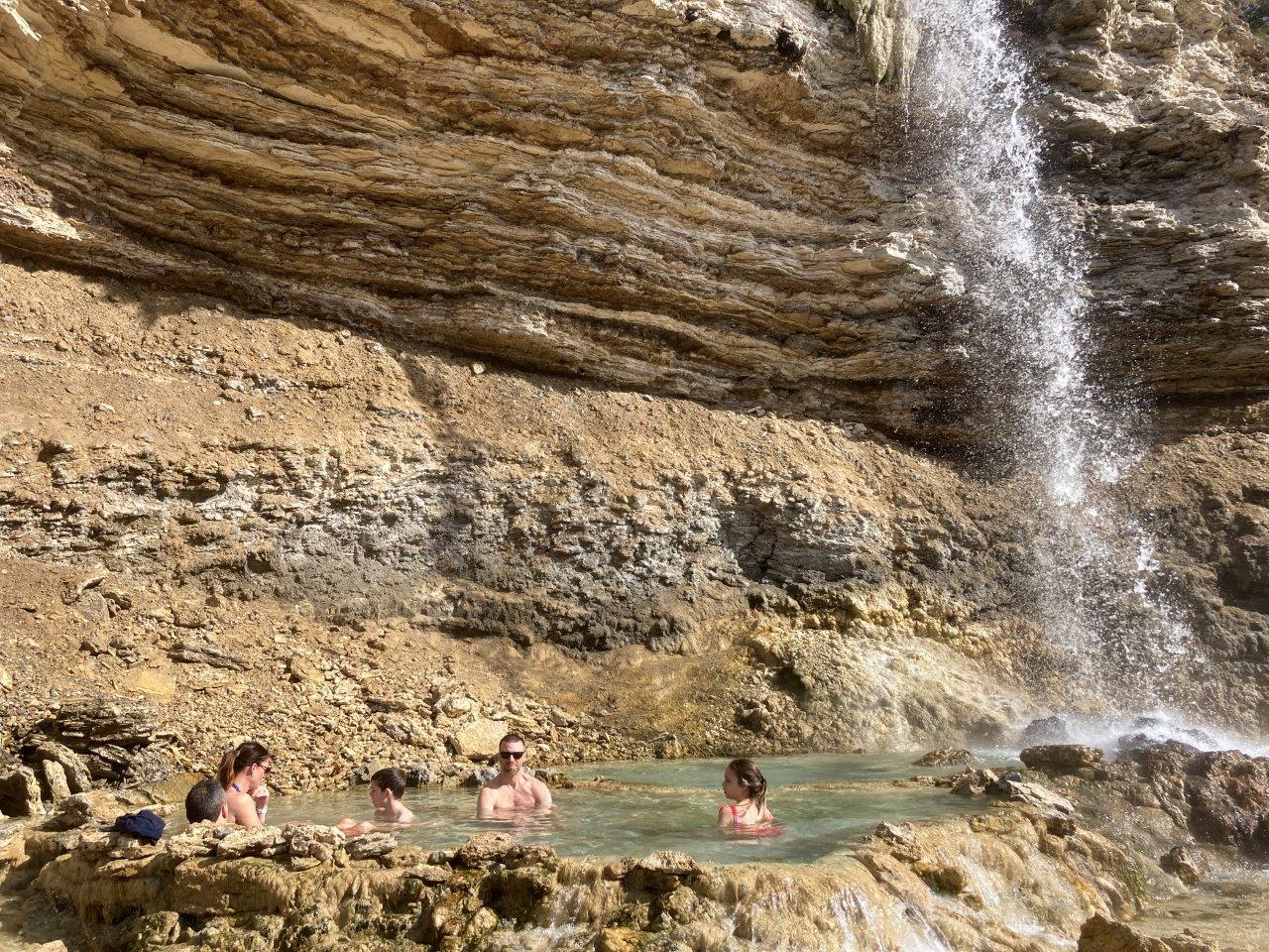 Waterfall hot springs Fairmont BC