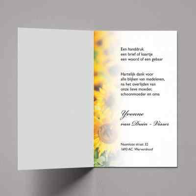 Dankbetuiging Zonnebloemen