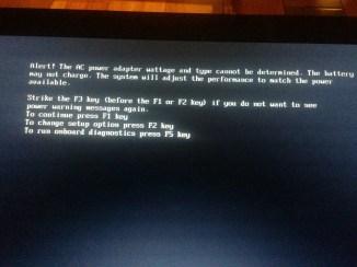 Dell - AC power adapter wattage alert