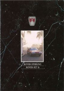 Rover Sterling & 827 Si Brochure cover