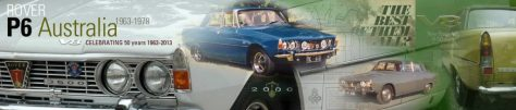 Rover P6 Australia Website Header (50th)