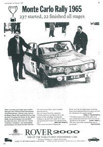 DSC_0048 1965 Rover 2000 Monte Carlo Rally Ad Autocar 26-2-1965