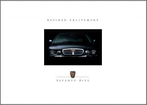 Rover 75 Brochure Cover 2001
