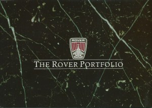 Rover 827 & 416i Loose Leaf Brochure Folder Cover 1989