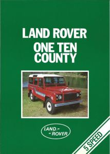 Land Rover One Ten County brochure cover 1-1-1986