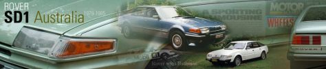 Rover SD1 Website Header