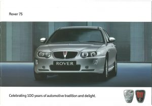 Rover 75 Brochure Cover 2004