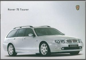 Rover 75 Tourer Brochure Cover October 2001