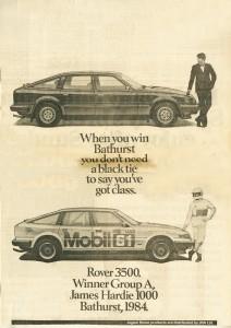DSC_0012 Rover 3500 SE & VDP James Hardie 1000 Ad 2-10-1984