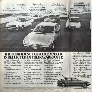 IMG_0058 1980 Rover 3500 SD1 Ad The Bulletin 13-5-1980