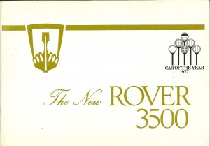 DSC_0001 Rover 3500 SD1 Owners Handbook Cover 5-1978