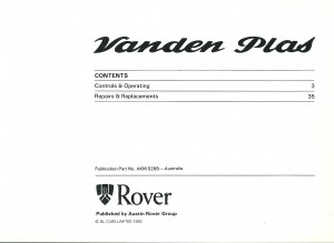 DSC_0003 1982 Rover Vanden Plas Owners Handbook P1