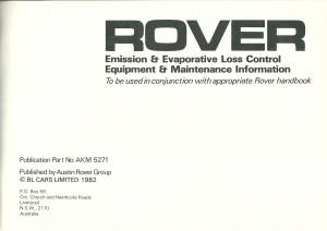 DSC_0006 1982 Rover Vanden Plas & 3500SE Owners Handbook Supplement P1