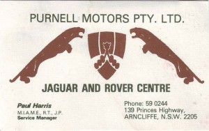 SD1 1984 Purnell business card