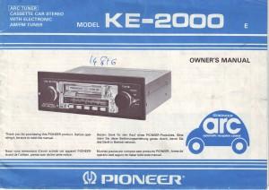 SD1 radio Pioneer KE2000