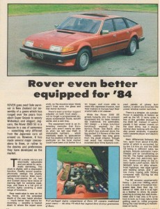 DSC_0009 1984 Rover 3500SE Road Test Motor World New Zealand Feb 1984
