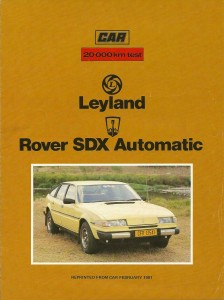 Rover SDX South Africa February 1981 Cover
