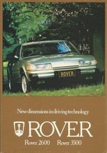 DSC_0001 Rover 3500 2600 SD1 New Zealand Brochure circa 1980 page 1