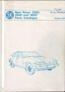 DSC_0004 Rover 2300 2600 3500 SD1 Parts Catalogue
