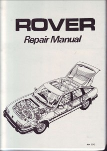 DSC_0006 Rover SD1 Series 2 Repair Operation Manual Hard Cover 1982 Onwards