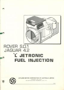 DSC_0105 Rover SD1 Jaguar 4.2 L Jetronic Fuel Injection Manual 1981 Leyland Australia TP967A