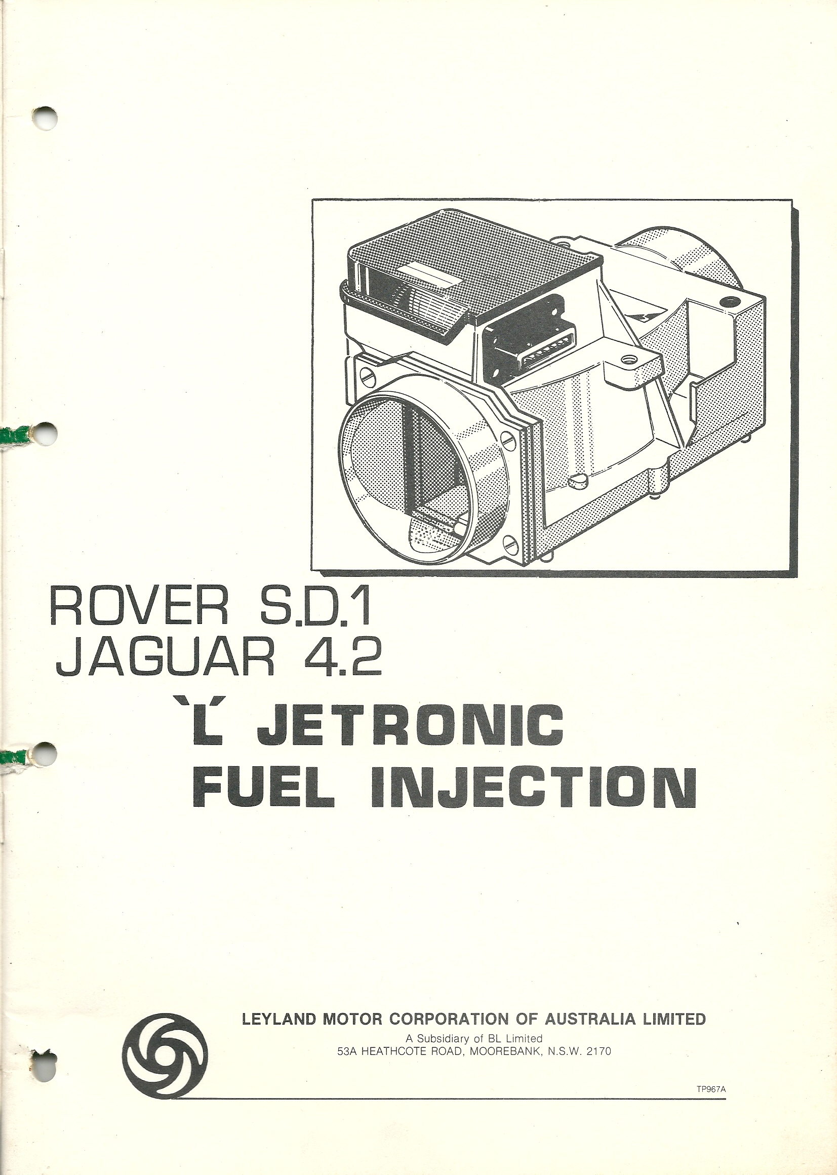 Workshop Manuals Rover Sd1 Australia Wiring Library Diagram Lug Indoor Main Br24lsp70 Dsc 0105 Jaguar 42 L Jetronic Fuel Injection Manual 1981 Leyland